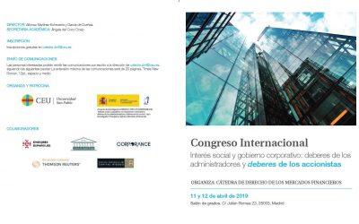CONGRESO INTERNACIONAL DE GOBIERNO CORPORATIVO